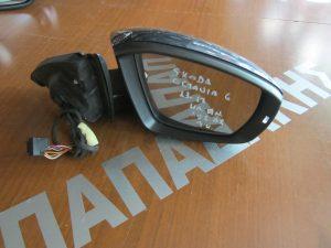 Skoda Octavia 6 2013-2017 καθρέπτης δεξιός ηλεκτρικά ανακλινόμενος 9 καλώδια γκρι φως ασφαλείας