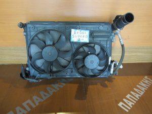 Skoda Superb 2008-2013 σετ ψυγεία κομπλέ diesel: ψυγείο νερού-ψυγείο A/C-intercooler-βεντιλατέρ διπλό