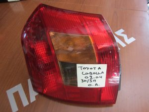 Toyota Corolla 2002-2004 φανάρι πίσω αριστερό 3θυρο/5θυρο