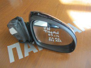 VW Tiguan 2007-2016 καθρέπτης δεξιός ηλεκτρικά ανακλινόμενος μαύρος φως ασφαλείας