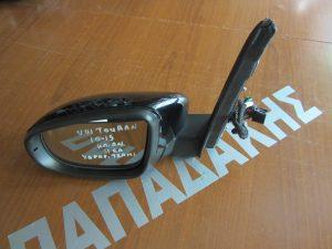 VW Touran 2010-2015 καθρέπτης αριστερός ηλεκτρικά ανακλινόμενος 11 καλώδια μαύρος υδραργιρικό τζάμι