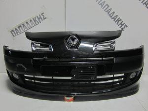 Renault Modus 2008-2013 εμπρός προφυλακτήρας μαύρος με προβολείς