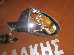 VW Golf 7 2013-2017 καθρέπτης δεξιός ηλεκτρικά ανακλινόμενος γκρι φως ασφαλείας